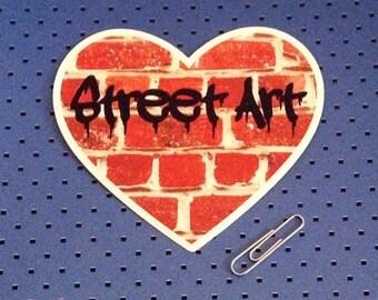 I Love Street Art - Street Art Heart Bumper Sticker