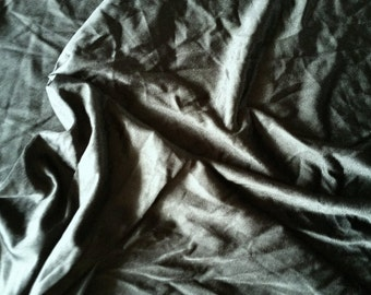 "Black Satin Tricot Poly Blend 2 way stretch 60"" wide sold by the yard - Free Shipping"