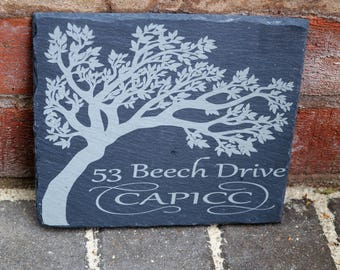 Slate house sign,stable sign, personalised slate sign, bespoke house sign, house numbers, house plaque, house number plaque