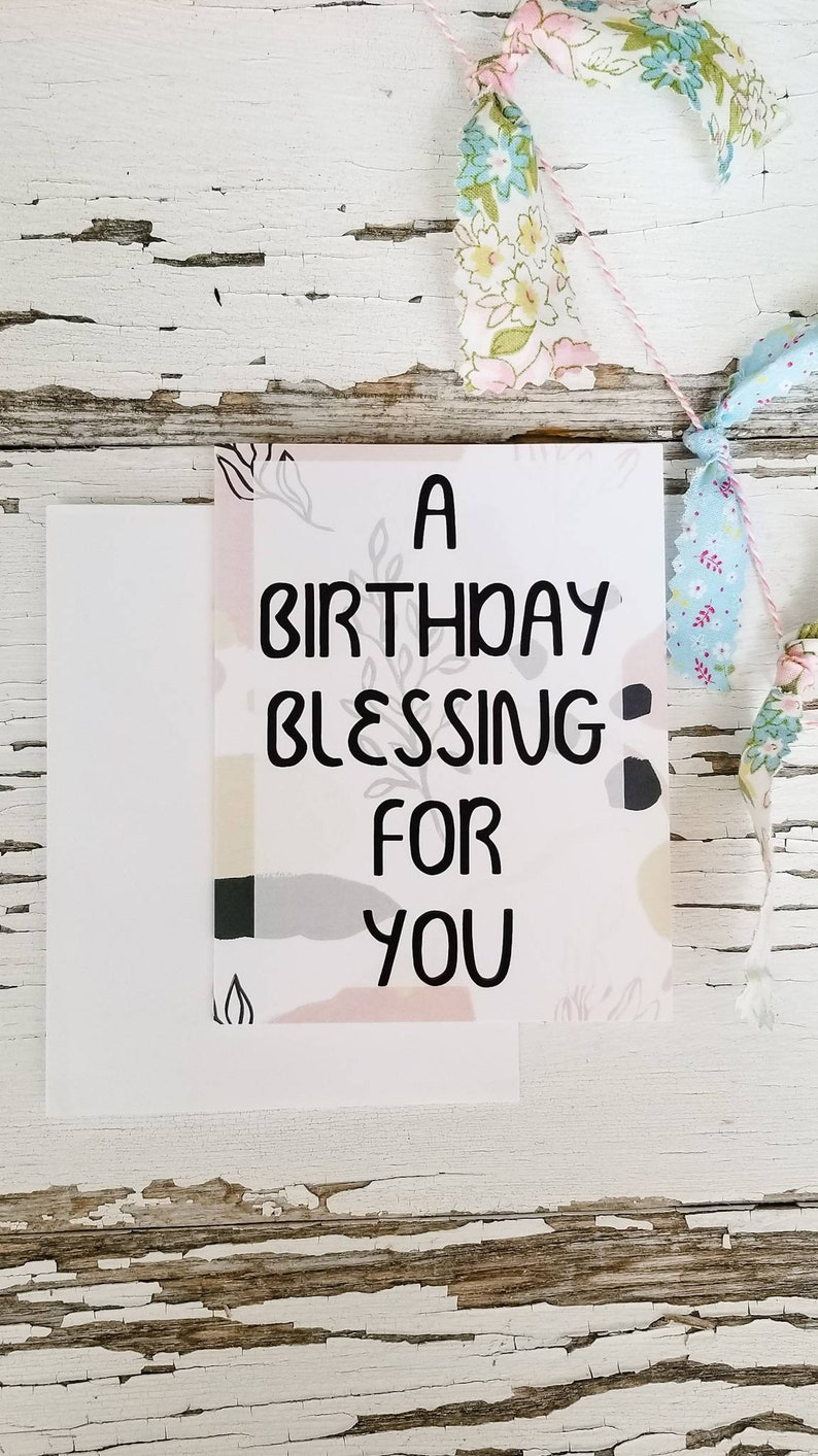 A Birthday Blessing Birth Mother Encouragement Card image 0