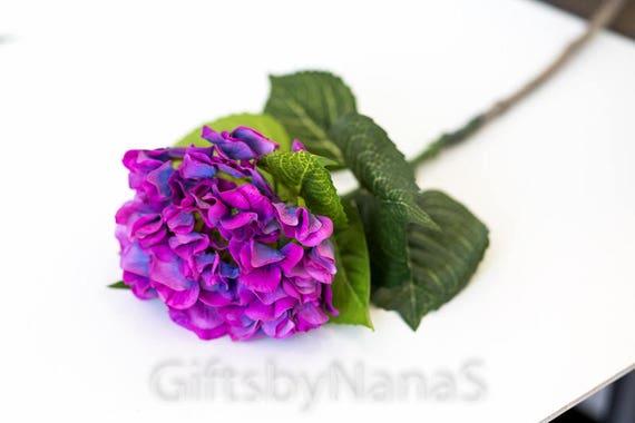 Purple real touch hydrangeas real touch roses silk hydrangea etsy image 0 mightylinksfo