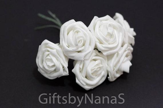 36pc white foam roses white silk flowers bulk silk flowers etsy image 0 mightylinksfo