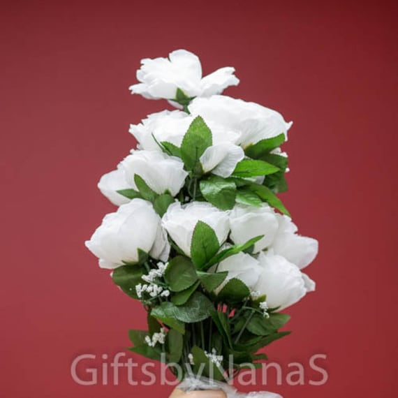 24pc white silk flowers silk roses with stems silk flowers etsy image 0 mightylinksfo