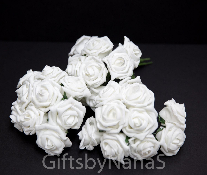 White Foam Roses Large White Roses Bulk Silk Flowers Cheap Etsy