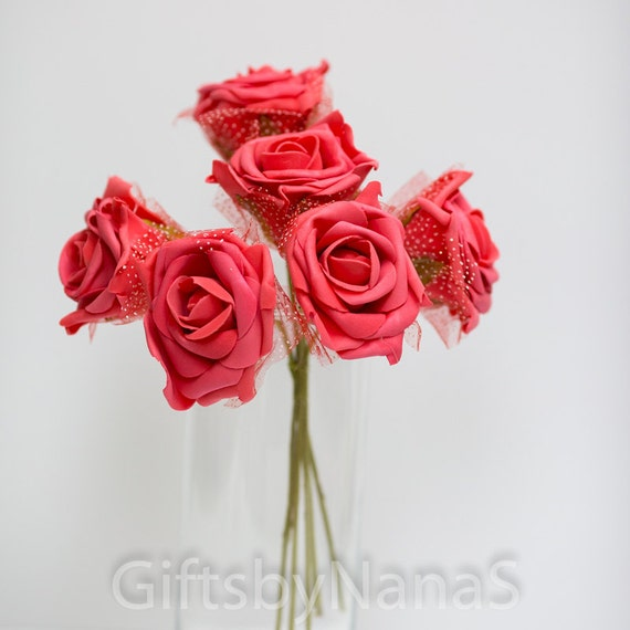 Red Foam Roses Large Red Roses Bulk Silk Flowers Cheap Silk Etsy