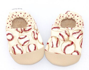 Louis Cardinals Inspried Baby Shower Gift St Photo Prop Baby Shower Gift,Red and White Baby Shoe with White Bow Baseball Baby Booties