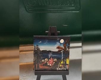 Mini Handpainted Canvas