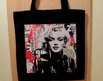 Marilyn Monroe Bag, Marilyn Monroe Shopping Tote Bag, Marilyn Monroe Gift,  100% Cotton Tote Bag, Canvas Tote Bag, Cotton Market Tote Bag 72373e9a07