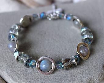 Labradorite Bracelet, Labradorite Bangle Bracelet, Labradorite Jewelry, Silver Bangle Bracelet, Labradorite Silver Bangle, Crystal Bracelet