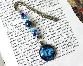 Bookmark, Butterfly Bookmark, Blue Bookmark, Book Accessory, Book Lover Gift, Bookmark Gift, Book Gift, Blue Butterfly, Birthday Gift