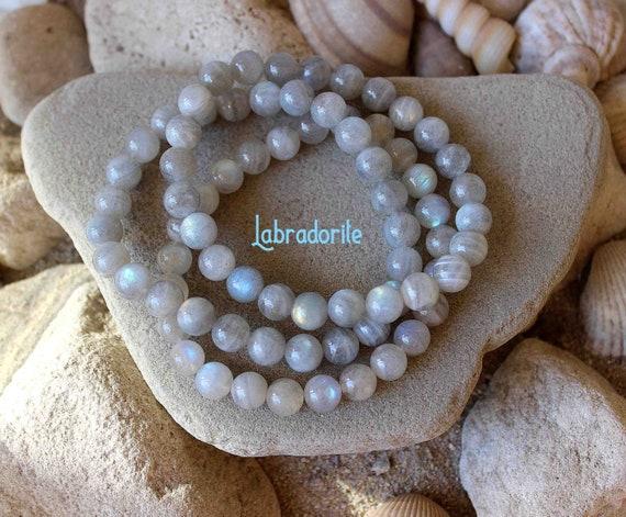 Beaded Labradorite Bracelet #0033 Highest quality Labradorite jewelry AAAA Stunning Labradorite Bracelet 8mm Labradorite Bracelet