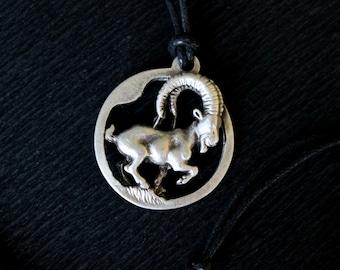 3D Capricorn Necklace, Capricorn Zodiac Necklace, Capricorn Men Necklace, Capricorn Sign, Capricorn Choker, Pagan Necklace, Zodiac Necklace