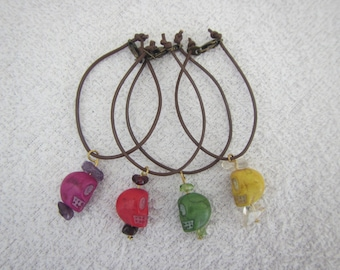 SD BJD skull necklace - multiple colours available