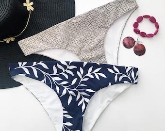 Tropical Print Bikini Bottoms (scrunch or regular style)