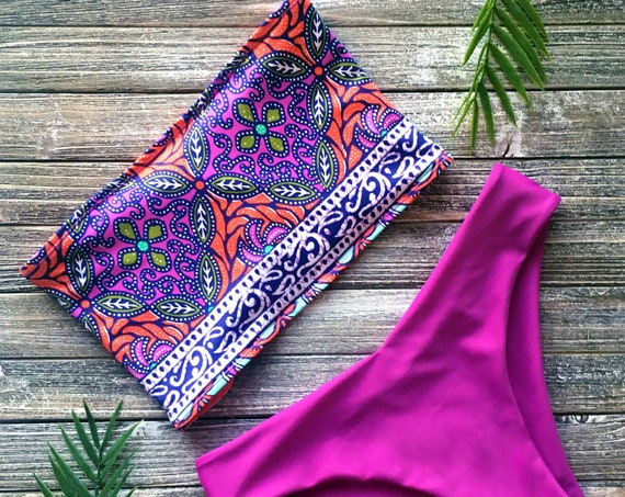 Bandeau Bikini Top | Kaleidoscope