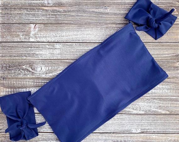 Off the Shoulder Bikini Top | Dusty Blue