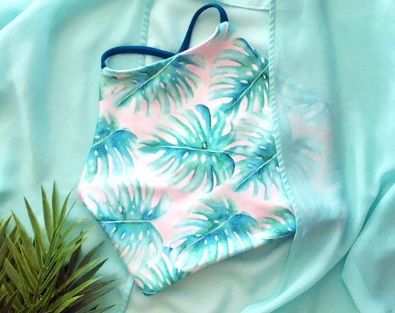 Crop Bikini Top | Tropical Print