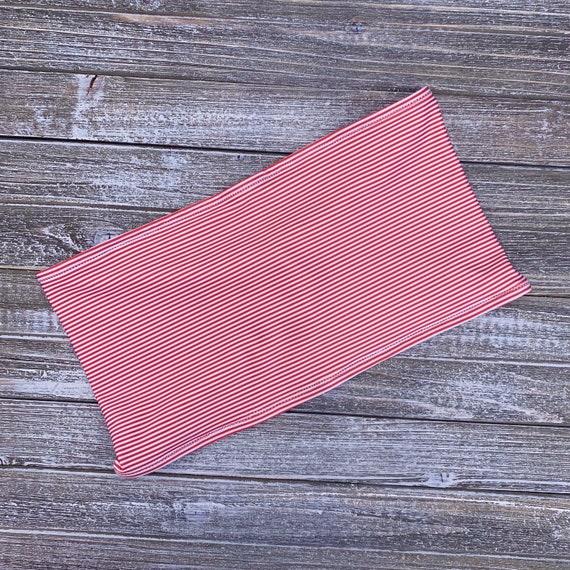 Bandeau Bikini Top | Red Stripes