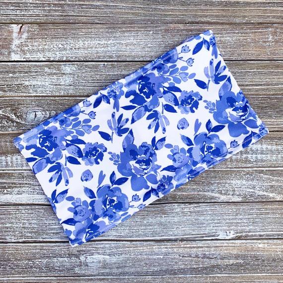 Bandeau Bikini Top | Blue Floral