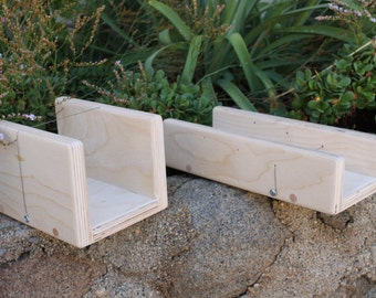 Pair of solid baltic birch soap cutters