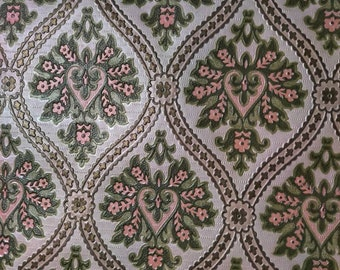 Vintage embossed wallpaper from 1950s