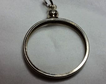 Coin Bezels for most us coins silver dollars,half,quarter,dime nickel,or penny. turn most coins into a necklace. Select Size