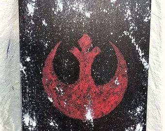 Star Wars Rebel Alliance Hand Painted Canvas