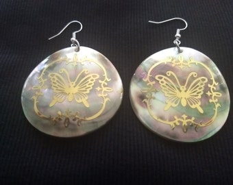 Iridescent Butterfly Earrings
