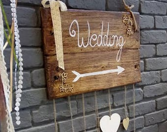 Wooden Wedding Signs, Barn Wood Sign, Wood Signs Wedding, Rustic Arrow Signs,Wedding Signs, Rustic Wedding Signs,