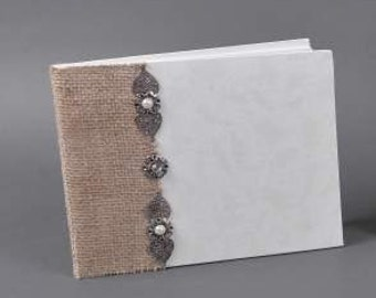 Decorated Guestbooks - Burlap&Pendants