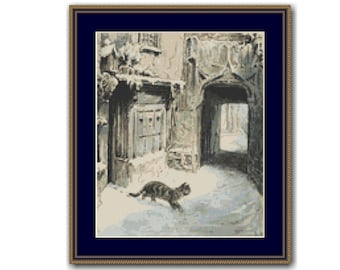 Simpkin On His Errand Cross Stitch Pattern / Chart, Beatrix Potter, The Tailor of Gloucester, Instant Digital Download (AP552)