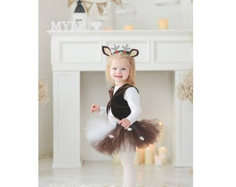 66ed4bf83d43 Halloween Costume Fawn Costume Forest Party Baby Deer Deer Costume Brown  Skirt Fawn Outfit Deer Outfit Christmas Costume Baby Fawn Sc 1 St Etsy