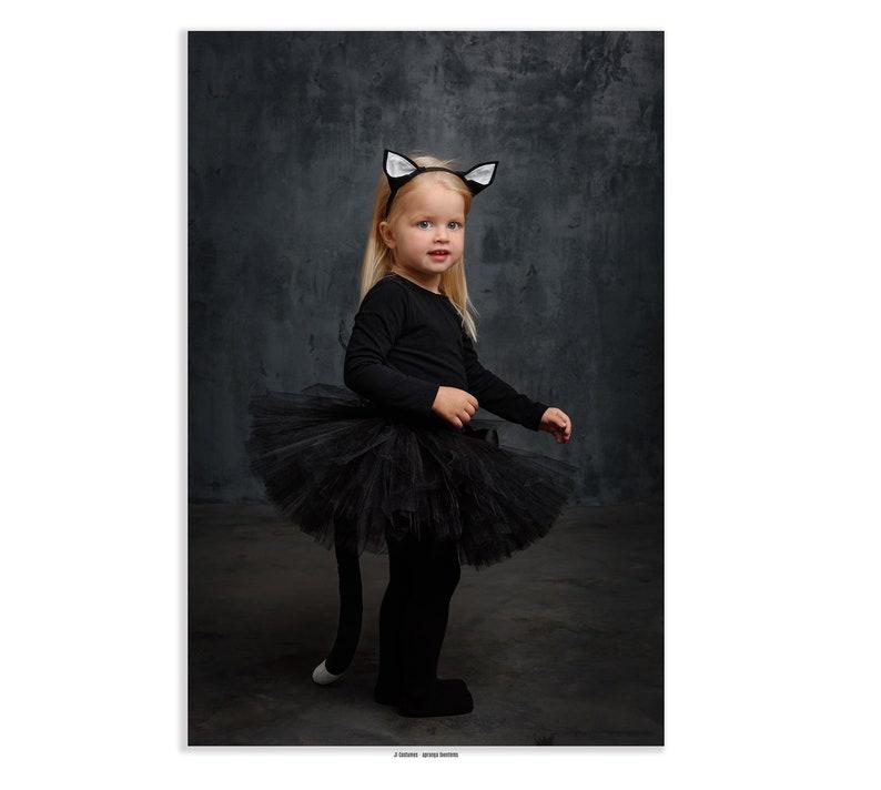 Girl Katze Kostüm Schwarz Tutu Rock Mädchen Halloween Kostüm Etsy