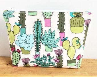 Succulent Gift - Cactus Makeup Bag - Cactus Gifts - Cactus Bag - Cactus Zipper Pouch - Gift for Teen Girl - Cute Makeup Bag - Succulent Bag