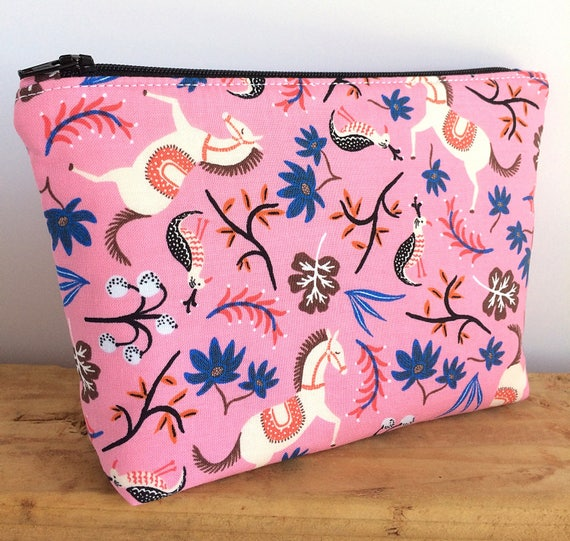 horse makeup bag lover gift pink make up cute for her 5332b07ba9f84