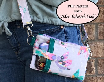Sewing Bag Pattern, Sewing Pattern, Easy Sewing Pattern, Sewing Purse Pattern, PDF Pattern Sewing, Phone Pouch Pattern