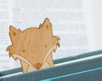 Fox Bookmark Wooden Engraved Cute Funny Book Geek Personalised Customised Woodland Bookworm