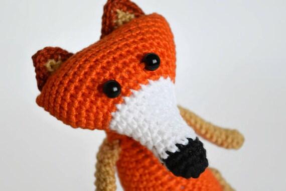 Little sleeping hand-crocheted red fox, soft amigurumi toy, best ... | 380x570