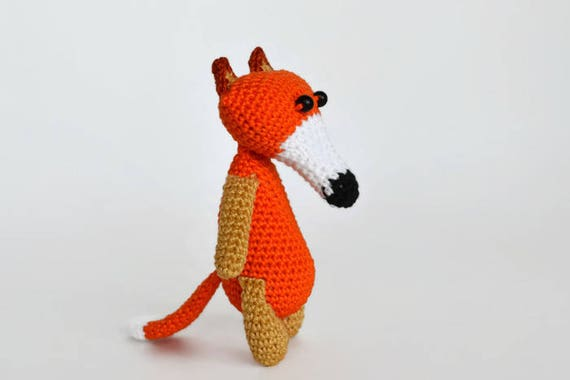 Gehäkelter Fuchs Gefüllte Tier Häkeln Tier Rotfuchs Spielzeug Etsy
