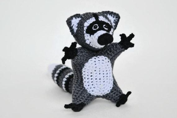 Waschbär Häkeln Häkeln Spielzeug Amigurumi Waschbär Etsy