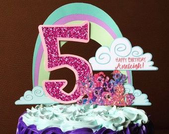 Personalized Birthday Cake Topper My Little Pony Decorations