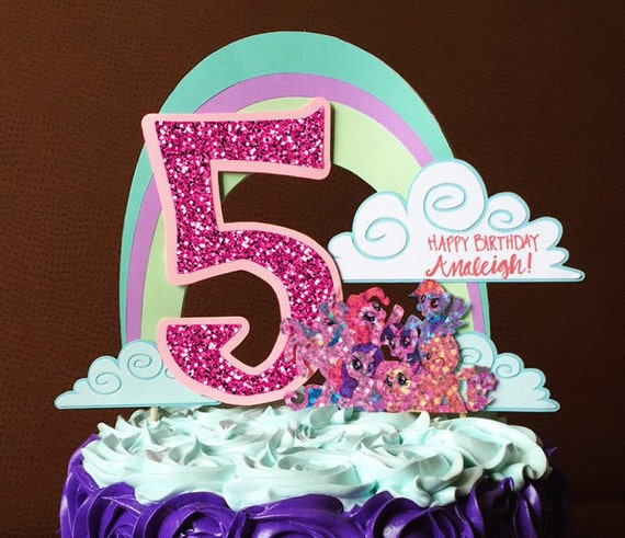 Personalized Birthday Cake Topper My Little Pony