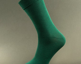 Socks| Mens Socks| Deep Forest Green Socks| Green Socks| Colorful Socks| Wedding Socks| Dress Socks| Free Shipping