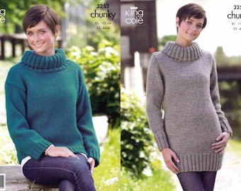 """King Cole 4229 Baby/'s Cardigan Sweater /&Hat Chunky Knitting Pattern Sizes 14-24/"""""""