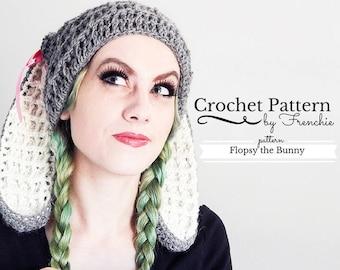 5199942dcb1 Crochet Bunny Hat Pattern Bunny Ears Beanie Crochet Pattern