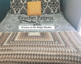 Crochet Blanket PATTERN Granny on the Ridge Blanket Pattern