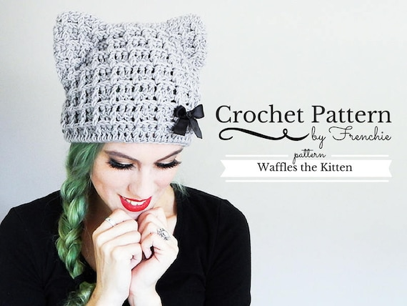 Crochet Cat Hat Pattern Cat Beanie Crochet Pattern  cb88c238490
