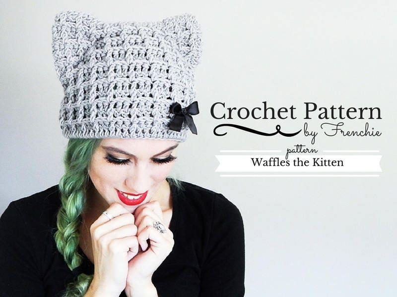 Crochet Cat Hat Pattern Cat Beanie Crochet Pattern Etsy