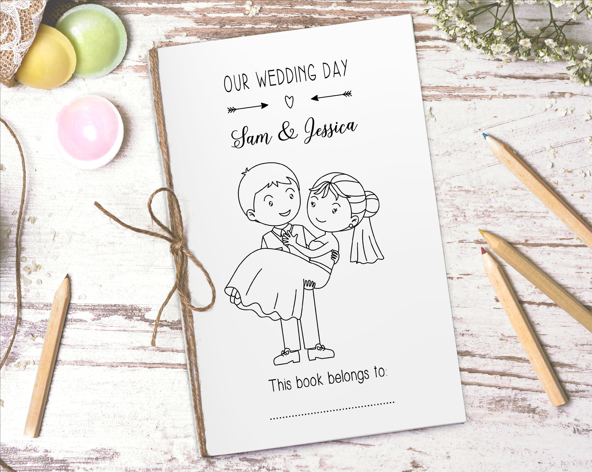 - Personalized Wedding Activity Book Printable Download Etsy