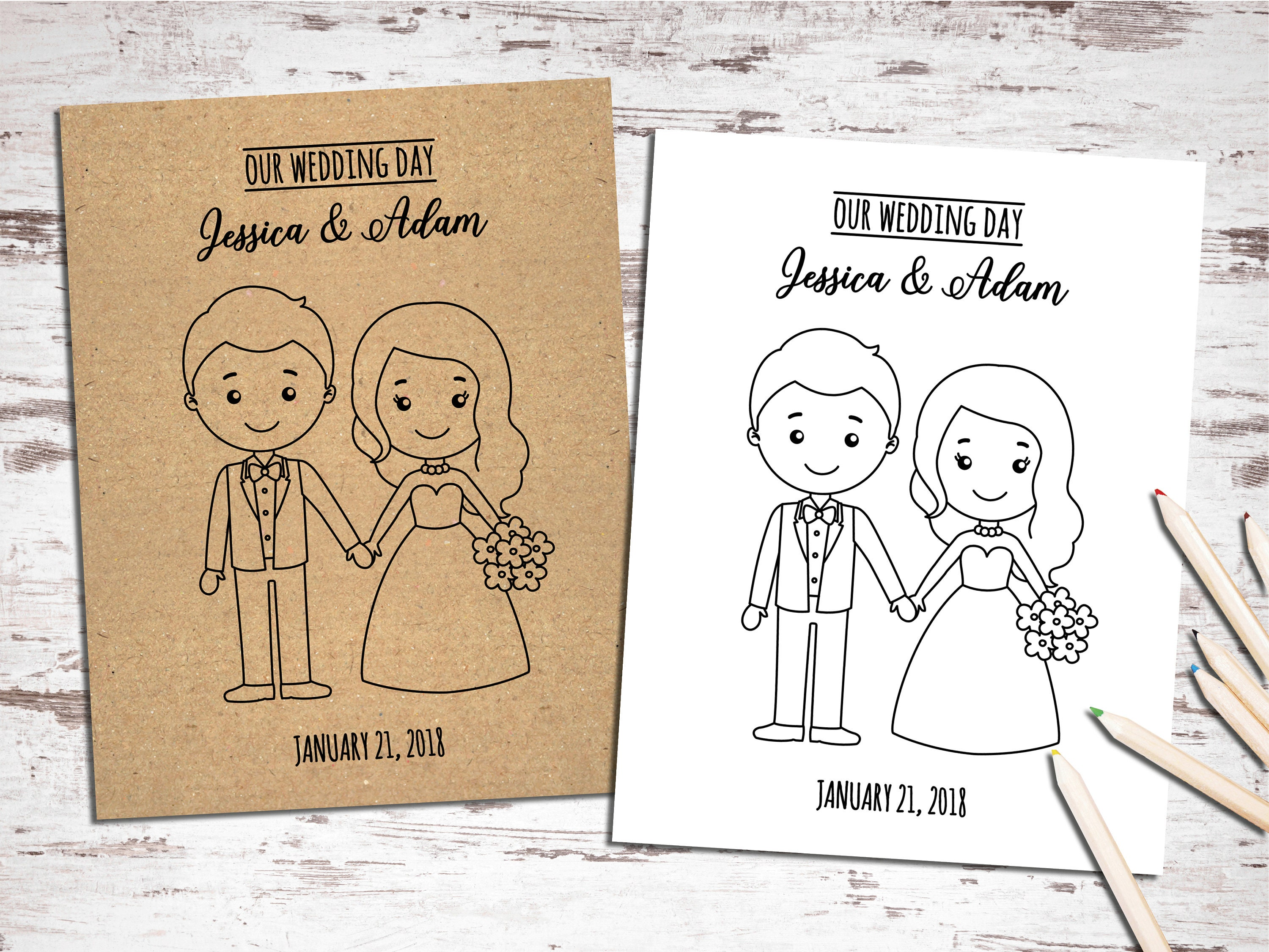 - Printable Wedding Activity And Coloring Book Kids Table Etsy